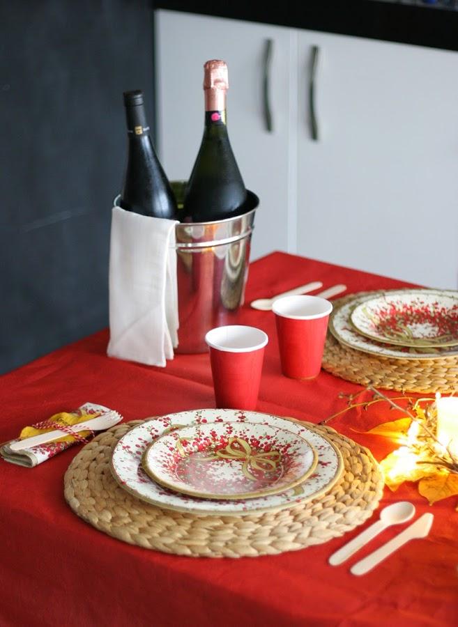 Mesa navideña de cartón con Elegance Party - Decorar en familia12