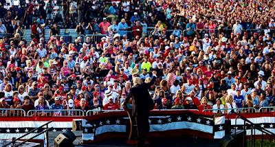 crowd at trump rally, Donald Trump With Patriots in Wellington, Ohio