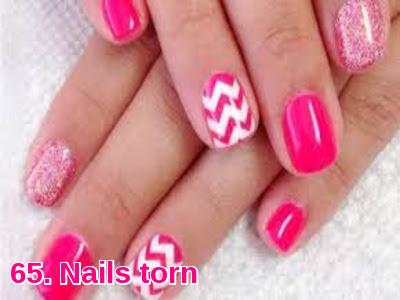 Nails torn