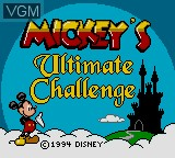 Jogue Mickey's Ultimate Challenge online para Game Gear