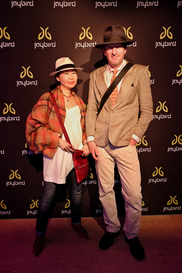 Bloggers vivalaViv and Kent Johnson, Street Fashion Sydney at the Jaybird Freedom launch in Kings Cross Sydney.