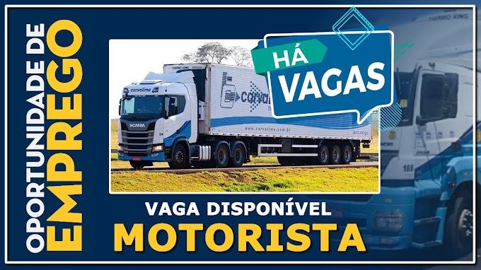 Transportadora Carvalima abre vagas para motorista carreteiro