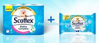 Logo Testamus : diventa tester Carta igienica umidificata Scottex Pulito Completo