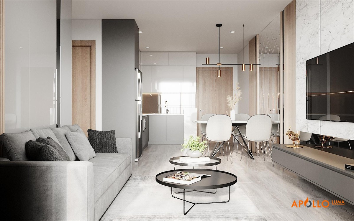 Thiết kế căn hộ 75m2 (3PN) Vinhomes Ocean Park