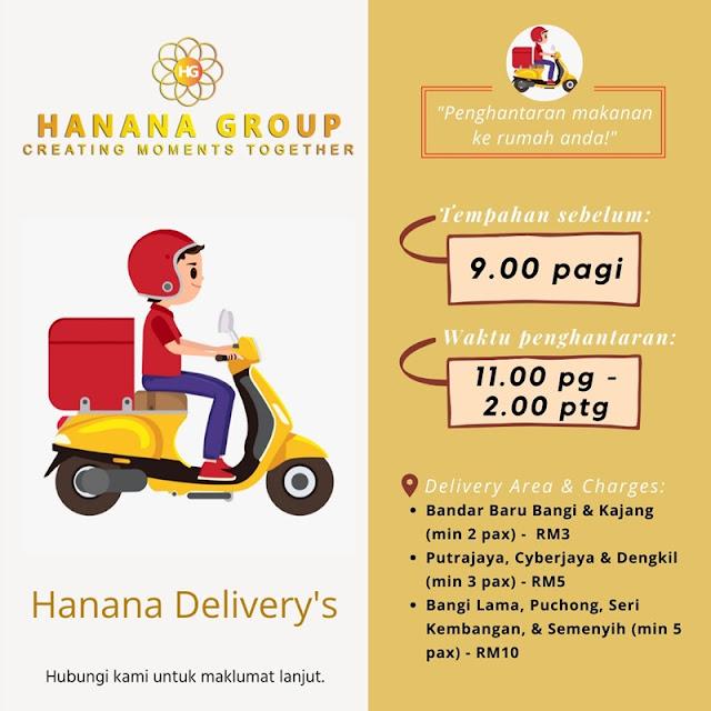 Jom Order Dengan Food Delivery Hanana