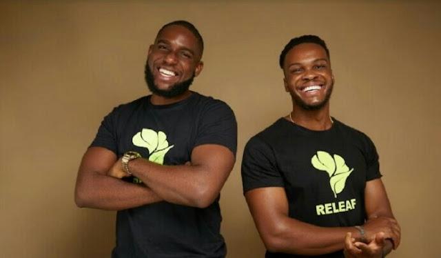 """Alt: = """"photo showing founders of Releaf, Ikenna Nzewi and Uzoma Ayogu"""""""