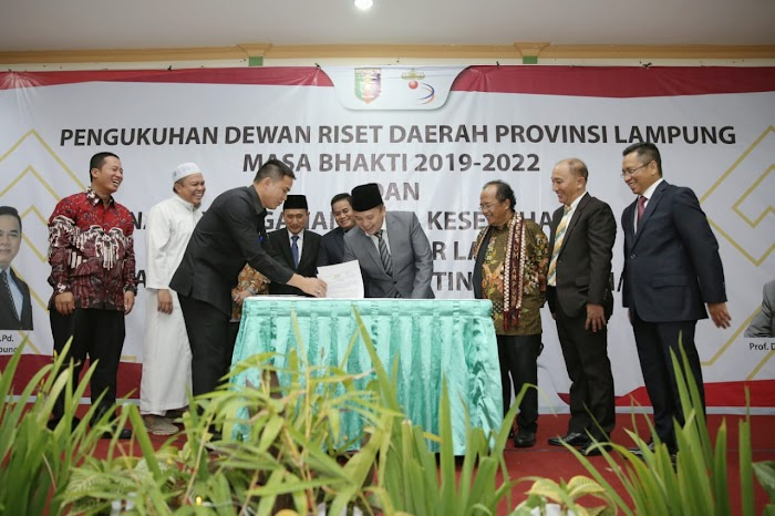Gubernur Lampung Kukuhkan Dewan Riset Daerah Lampung 2019-2022