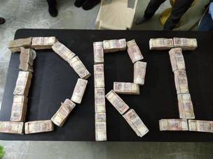 Strikes Against Black Money: Rs.50 Crores recovered of Demonetized Currency