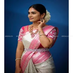 silk saree blouse designs catalogue