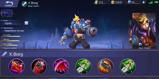 Tips GG Menggunakan X.Borg dan Build Item Tersakit (Mobile Legends)