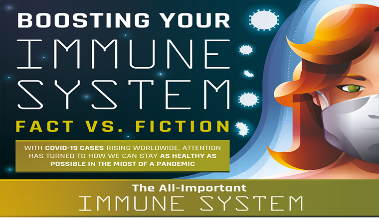 Boosting Your Immune System Fact Vs Fiction #infographic