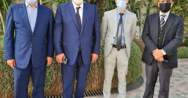 """أخنوش يستقبل الناصري الملتحق مؤخرا بحزب """"الأحرار"""""""