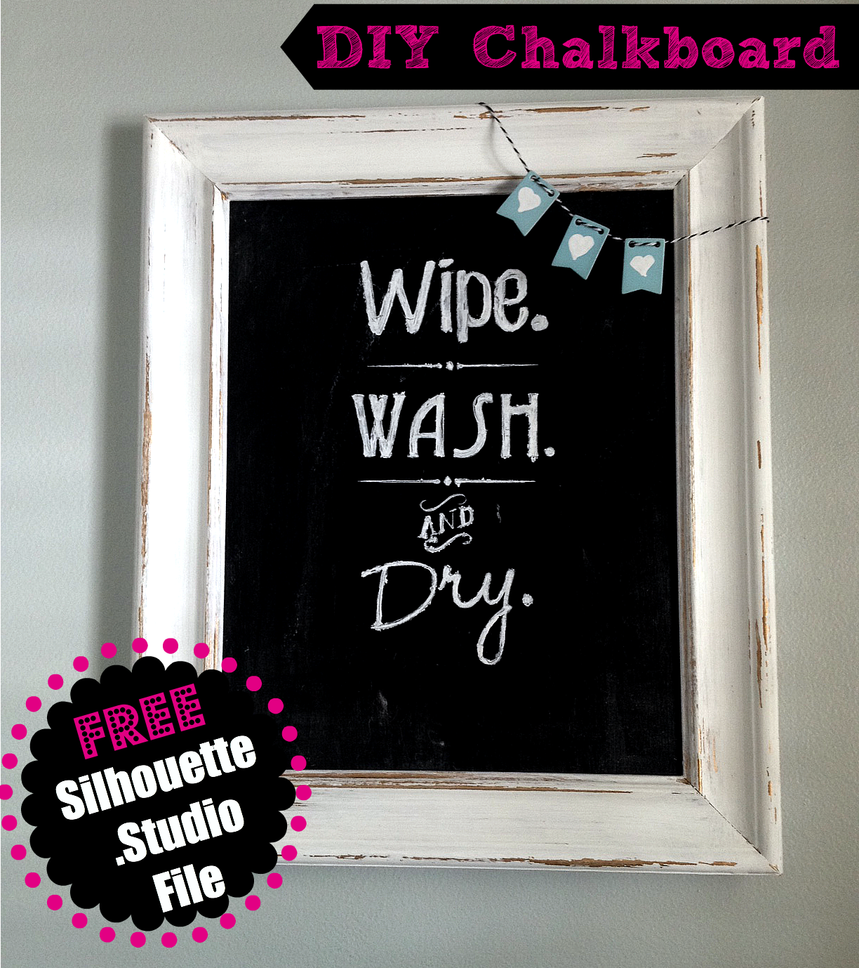 Bathroom quotes, wall art, chalkboard, free Silhouette cut file