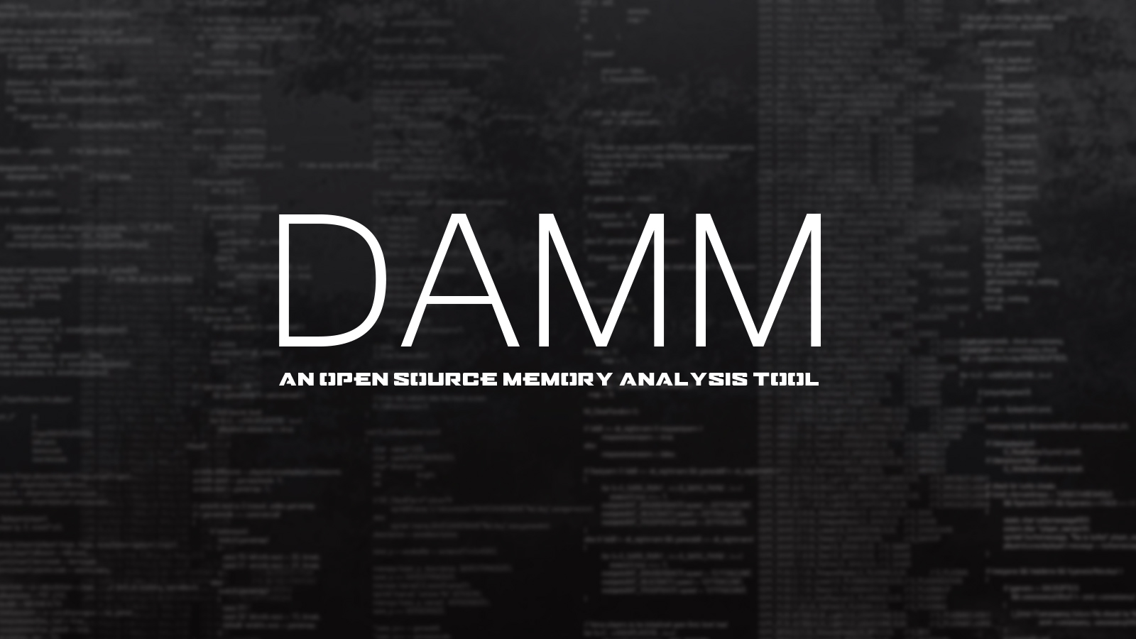 DAMM - An Open Source Memory Analysis Tool