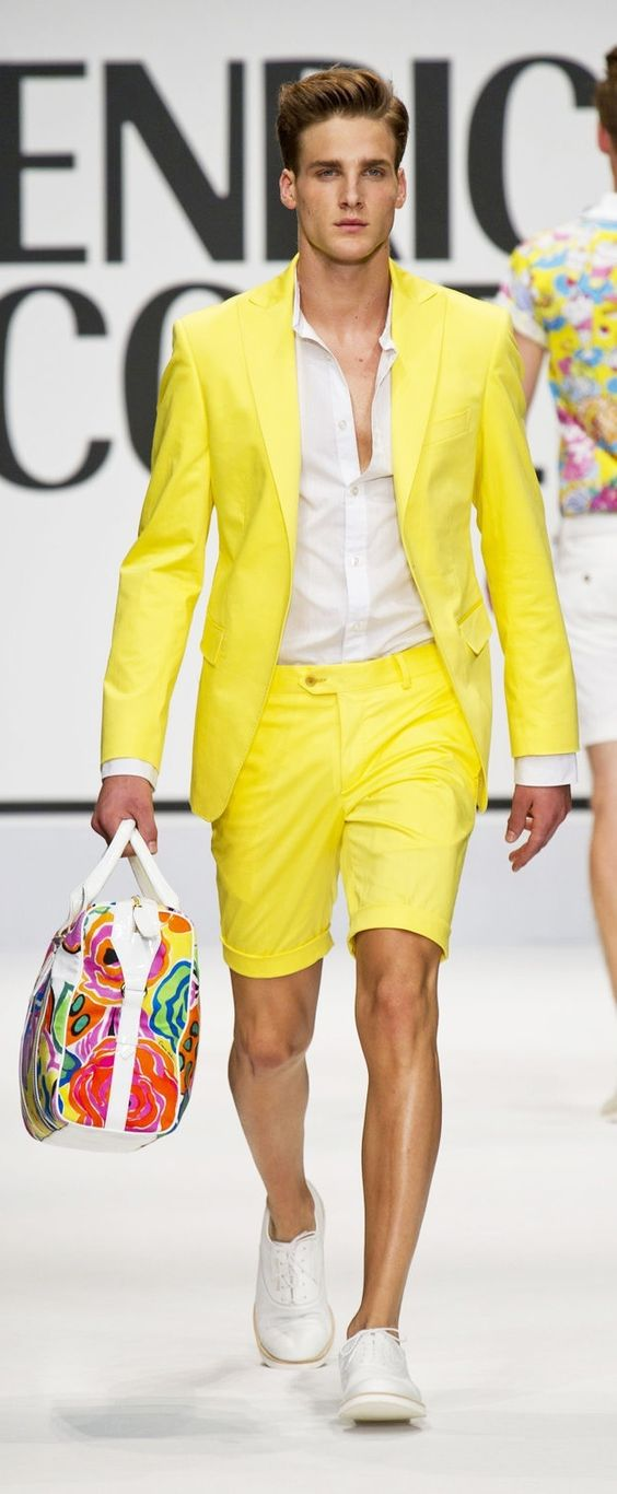 Look Masculino Amarelo