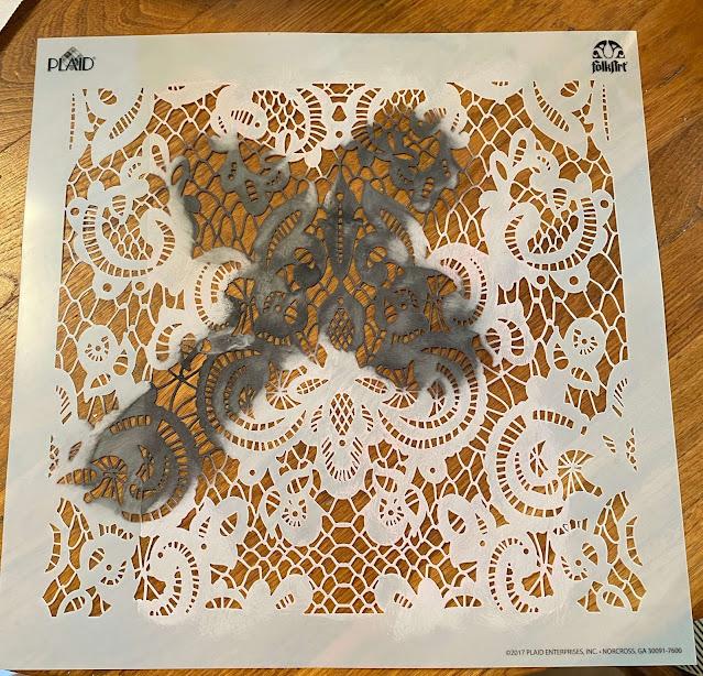 Photo of lace stencil