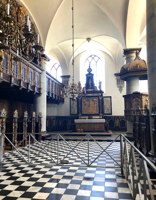 Inside the chapel at Kronborg.