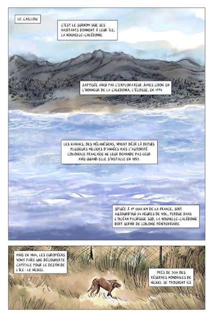 """page de """"MEMOIRES DE VIET-KIEU 4, les engagés de Nouvelle-CAlédonie"""" de Clément Baloup chez la Boite à bulles"""