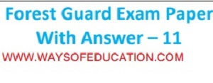 FOREST GUARD PAPER WITH ANSWER
