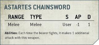 espada sierra astartes 9a edición 40k
