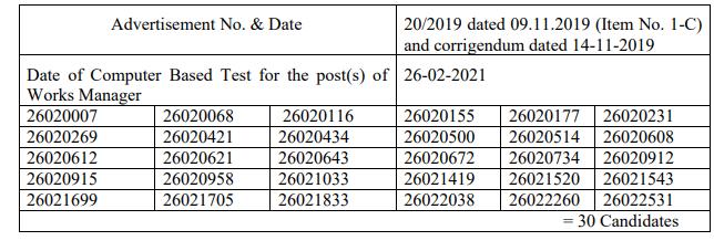 HPPSC Shimla Works Manager Class-II Result 2021