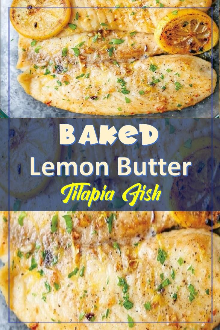 Baked Lemon Butter Tilapia Fish