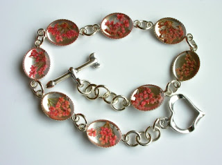 Sterling silver bracelet for flowers