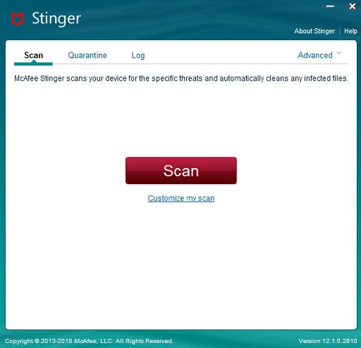 مكافح الفيروسات للكمبيوتر macafee stinger