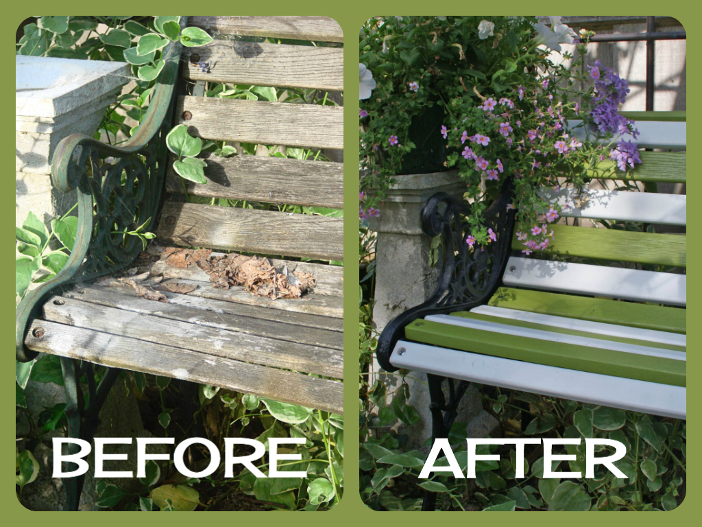 Marvelous Second Chances By Susan Reclaimed Garden Benches Short Links Chair Design For Home Short Linksinfo