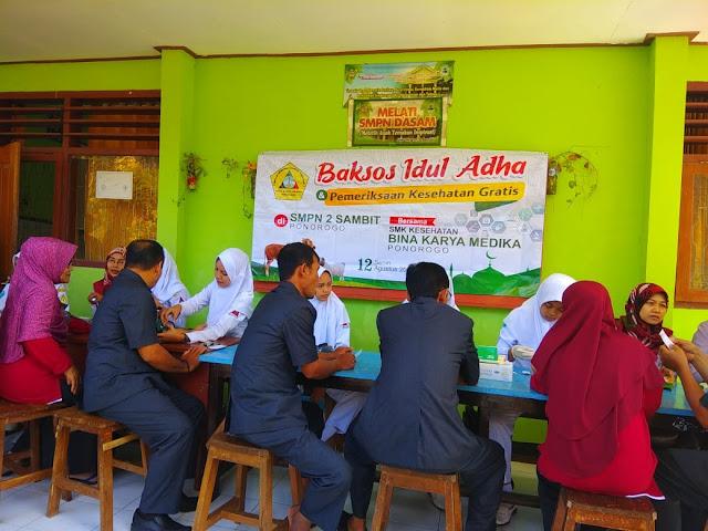 SMK Kesehatan Bina Karya Medika Ponorogo Gelar Cek Kesehatan Gratis