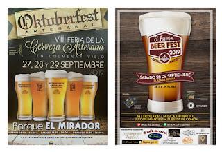 La Oktoberfest Artesanal de Colmenar Viejo y El Escorial Beer Fest.