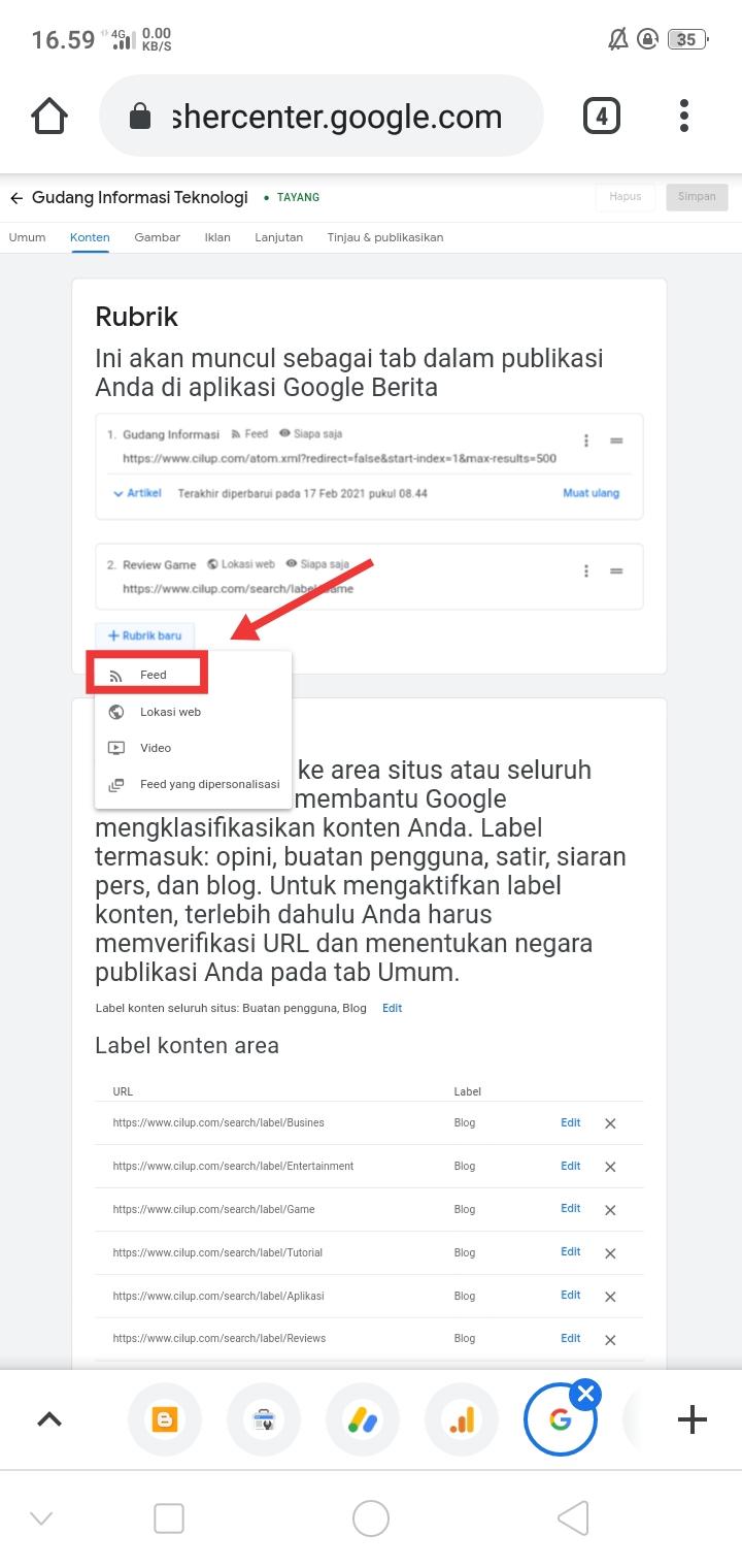 Cara Mengisi Rubrik Google News