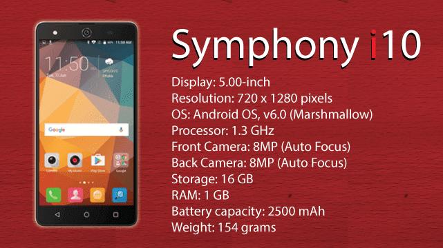 Symphony Mobile I10