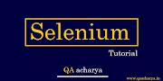 Selenium WebDriver Tutorial : Beginner Level