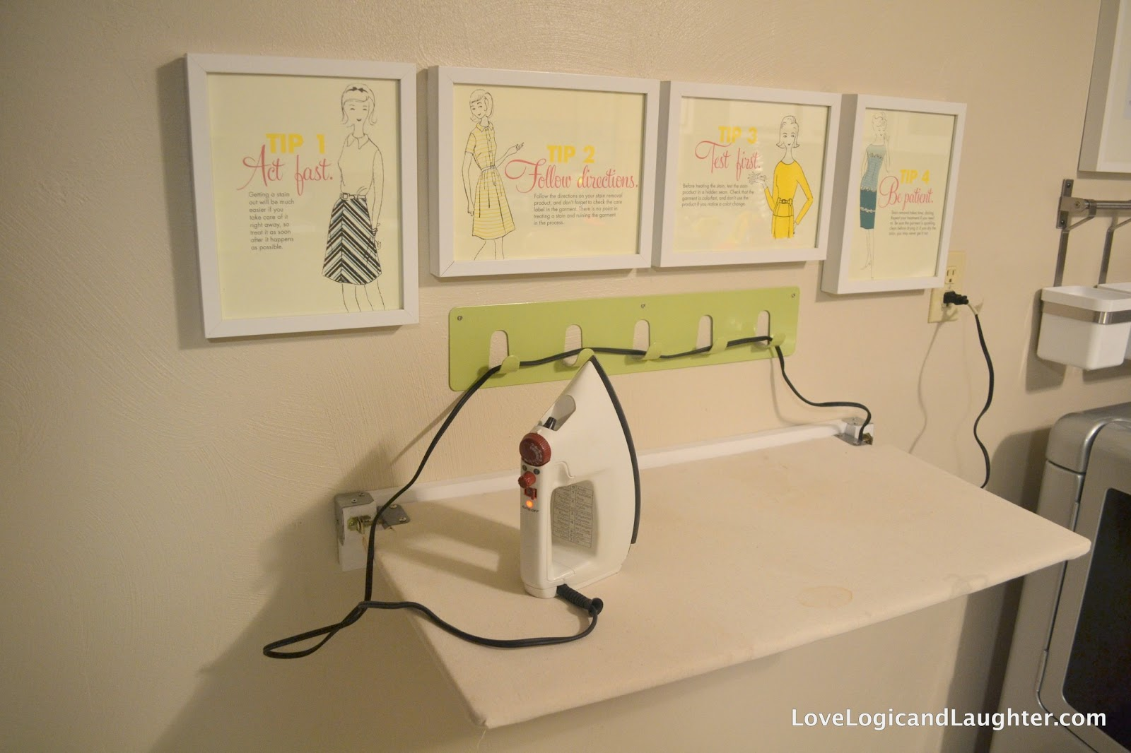 Diy Fold Away Ironing Board Hanging Bins