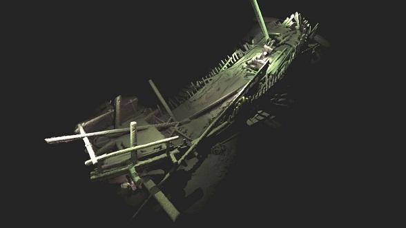 Ce modèle photogrammétrique représente la première et la plus complète des images d'un type de navire médiéval