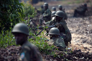 DR Congo army set to fire on Burundi rebels.