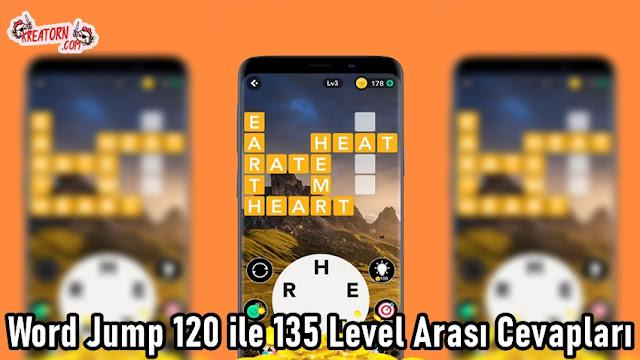 Word Jump 120 ile 135 Level Arasi Cevaplari