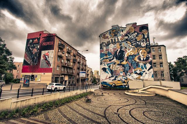 Murales vicino al museo Chopin-Varsavia