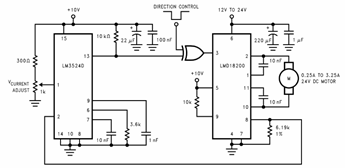motor current sensing circuit diagram