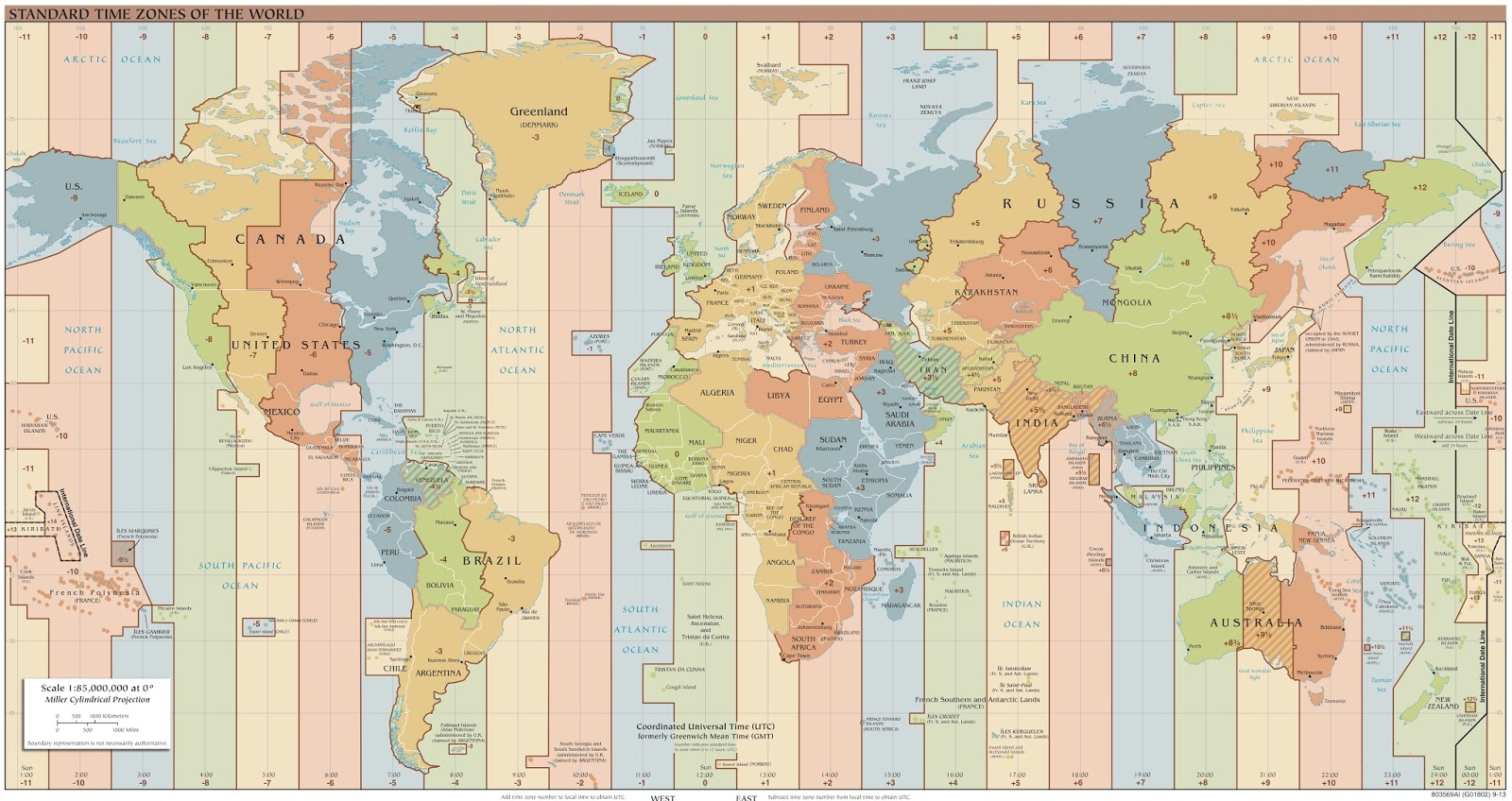Time zone map (2015)