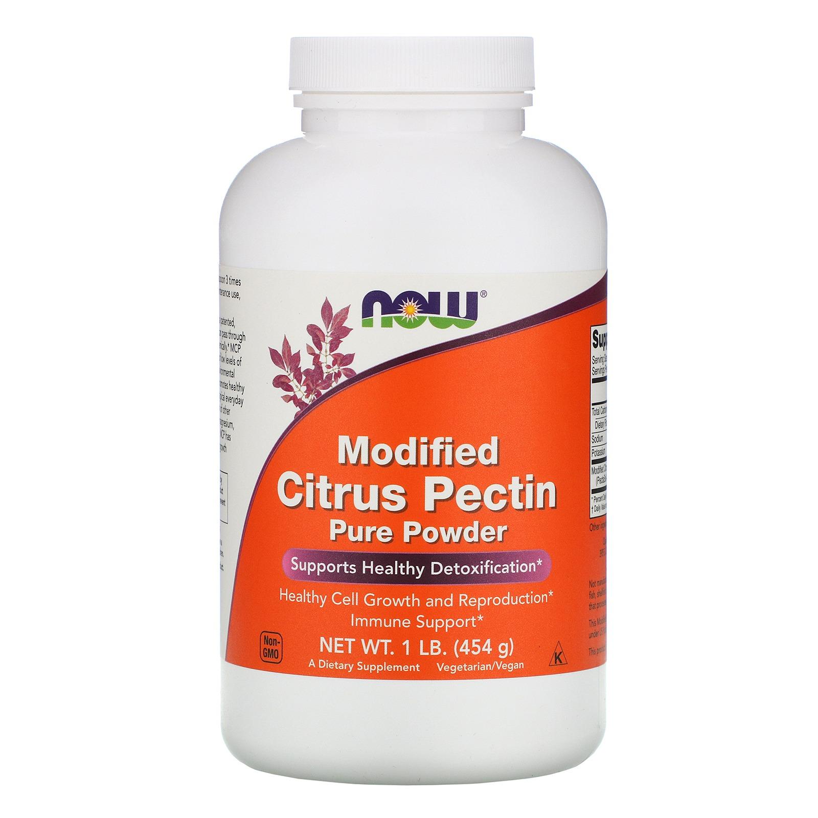 Now Foods, Модифицированный цитрусовый пектин, чистый порошок, 1 фунт (454 г)
