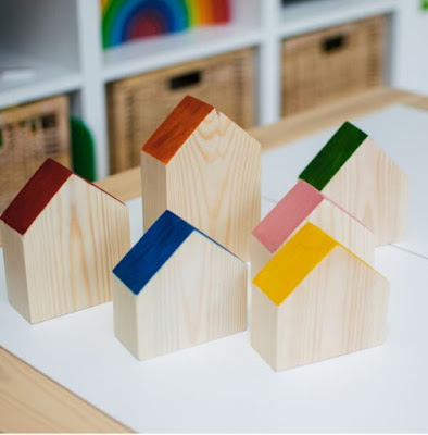 diy wood house play blocks