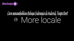 Cara menambahkan bahasa Indonesia di Android