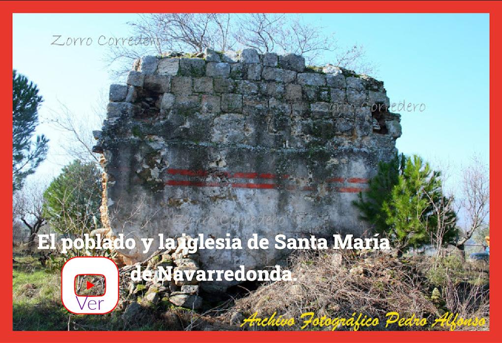 El poblado y la iglesia de Santa María de Navarredonda
