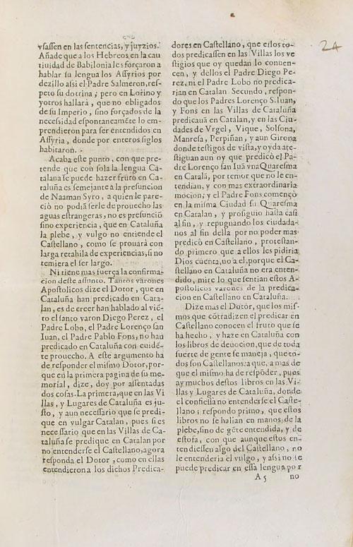 Memorial en defensa de la lengua catalana para que se predique en ella en Cataluña. 9