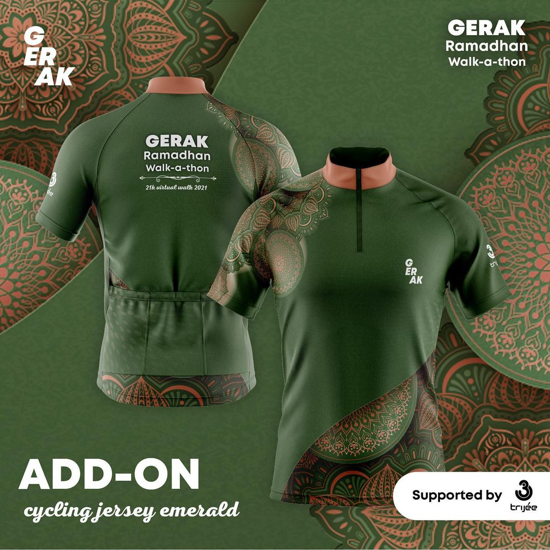 Cycling Jersey 👕 GERAK Ramadhan Walk-A-Thon • 2021