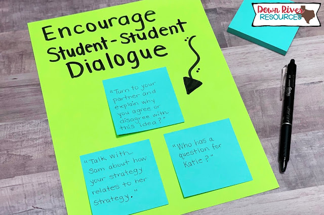 Encourage Student-to-Student Dialogue: Encourage Effective Discourse in Math
