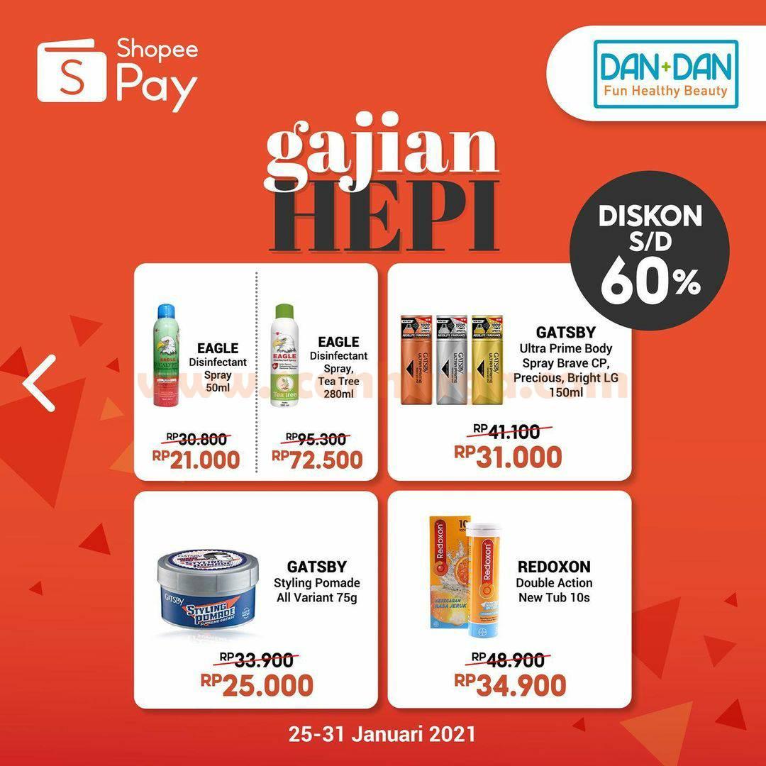 Dan+Dan Promo Gajian Hepi Diskon 60% Pakai ShopeePay