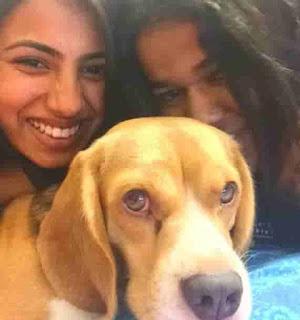 Aashna Hegde With Dog